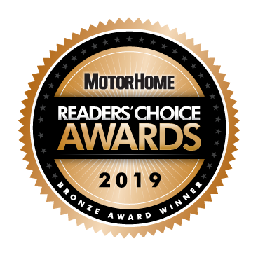 MotorHome Reader's Choice Awards 2019 Bronze