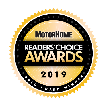 MotorHome Reader's Choice Awards 2019 Gold