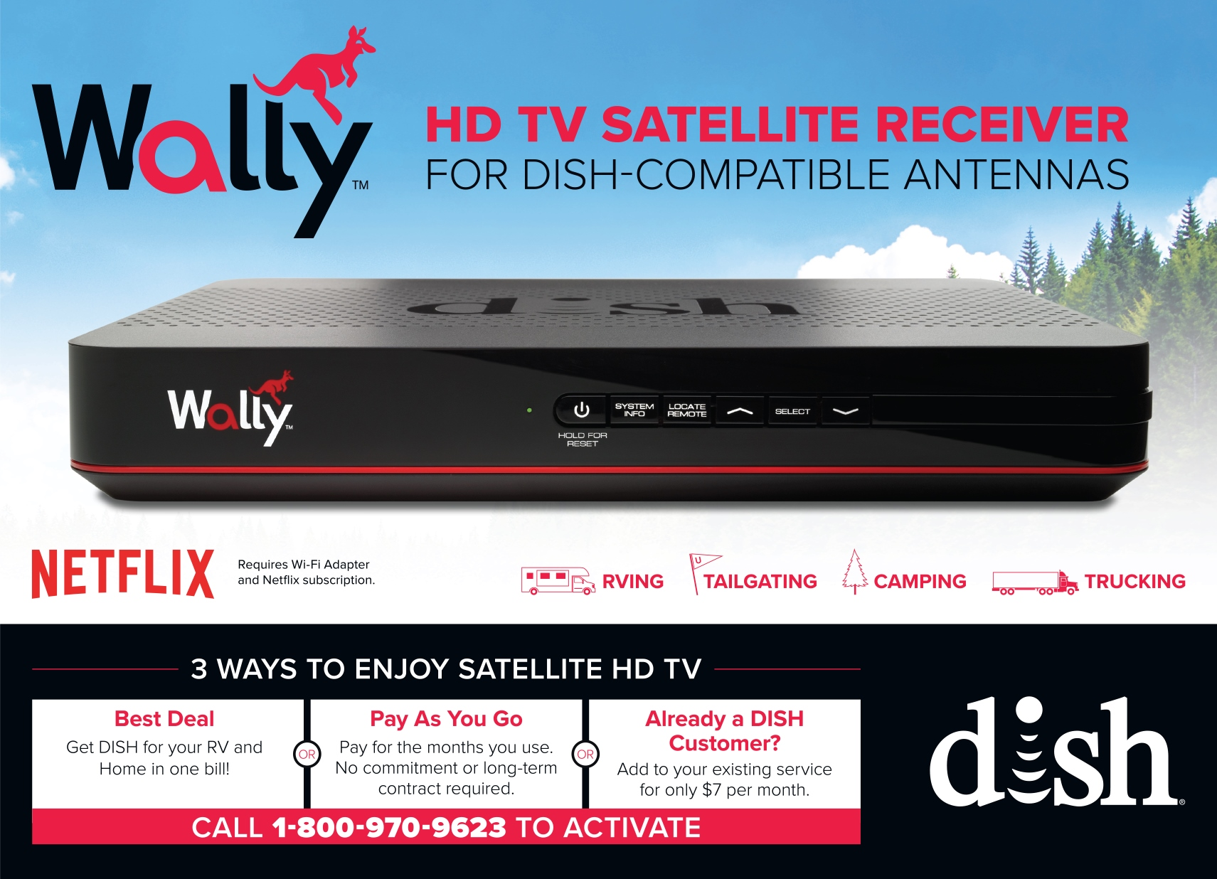 DISH Wally Single Tuner HD Satellite Receiver | Winegard Company